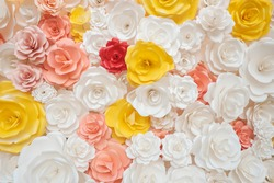 beautiful of artificial flowers background