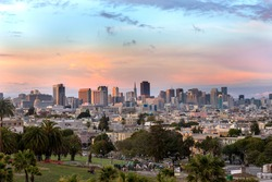 Beautiful of Dolores Park San Francisco with background Downtown