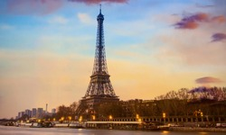 Beautiful of Landmark image at Eiffel Tower is one of the most iconic landmarks in Paris,France
