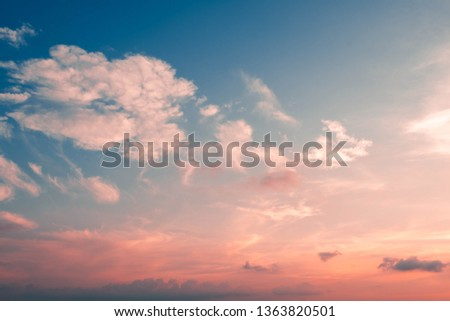 beautiful of skyscape in sunset #1363820501