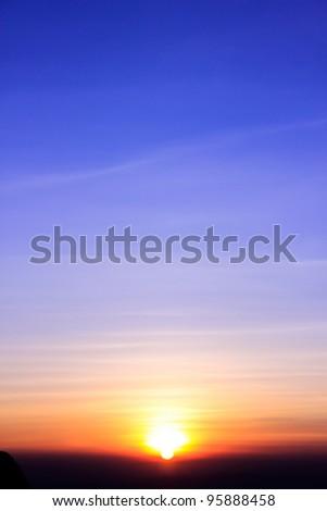 Beautiful of sunset time