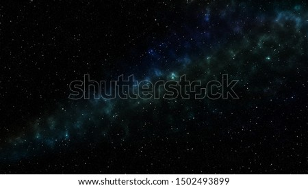 beautiful of universe filled with the stars, nebula and galaxy in night sky