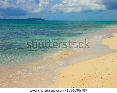 beautiful Okinawa beach in Japan #1355795789