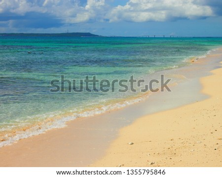 beautiful Okinawa beach in Japan #1355795846