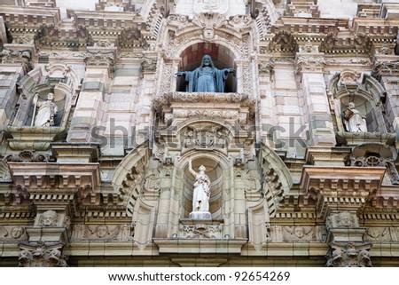 Beautiful old architecture of Lima, Peru.