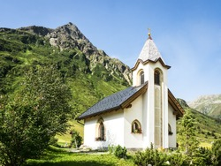 beautiful old chapel at austria