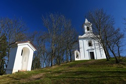 Beautiful old chapel of St. Anthony. Dolni Kounice Czech Republic