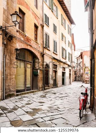 beautiful old facades at the tuscany - italy