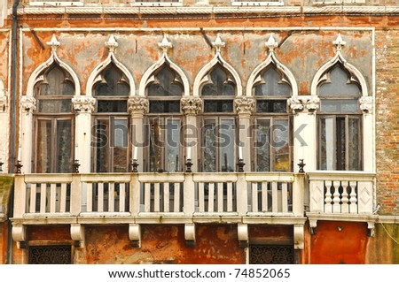 beautiful old italian window,Venice