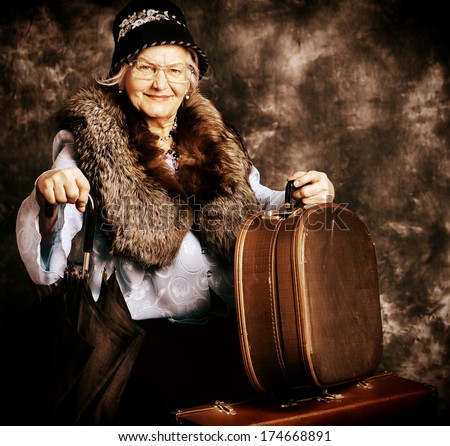 beautiful old lady in an...