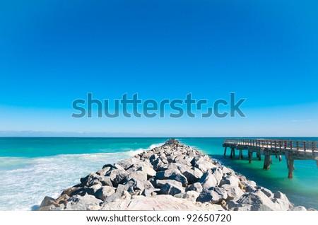 Beautiful old pier in Miami Beach, Florida