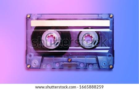 Photo of  Beautiful old vintage audio cassette tape