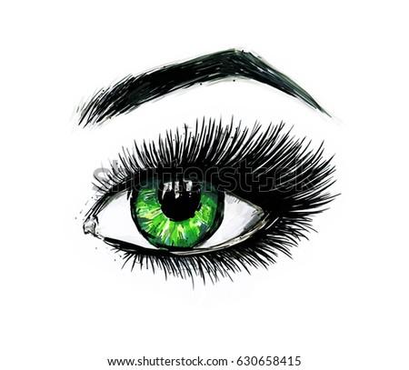 Eye makeup template