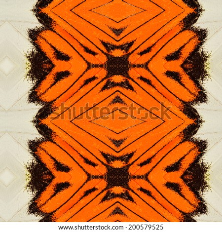 Beautiful orange and white background pattern made of orange tip butterfly\'s wing skin texture