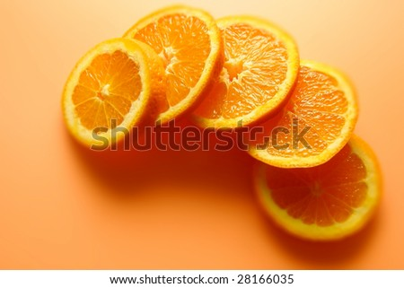 Beautiful orange slices ready for healthy lifestyle