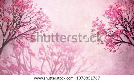 Beautiful oriental blossom background. 3d rendering picture.