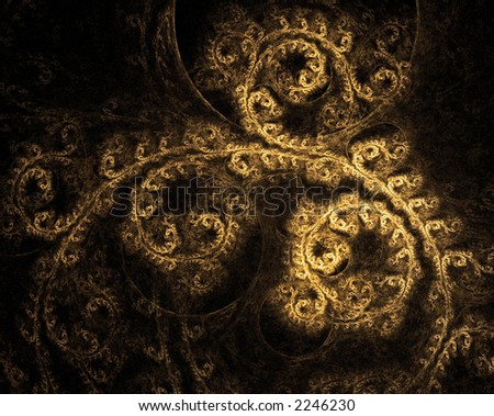 Beautiful Ornate Vintage Gold Texture