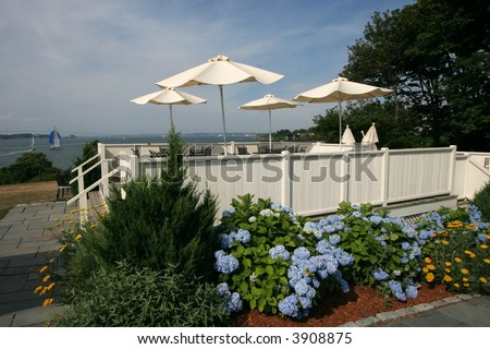 beautiful outdoor restaurant setting