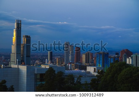 Beautiful outdoor view of one of the tallest building in Bogota, Colombia