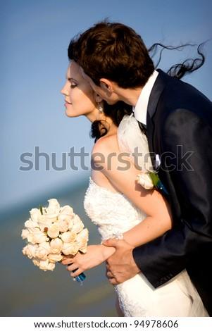 Beautiful pair of newlyweds