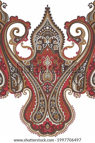 Beautiful paisley border in the vintage paisley border with seamless paisley border........