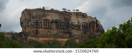 beautiful pano of the lionrock in sri lanka #1550824760