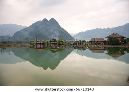 Beautiful panorama in Mai Chau Valley, North Vietnam.