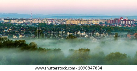 Distant skyline of Mountain Range  Panoramic view Images and