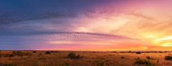 Beautiful Panorama sunset and sunrise at west coast national park , soth africa