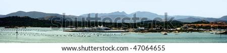 Beautiful panorama view of Sardinia, Italy