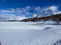 Beautiful panorama view of the winterlandscape