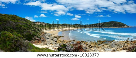 Beautiful Panoramic Photo of Australian Coastline