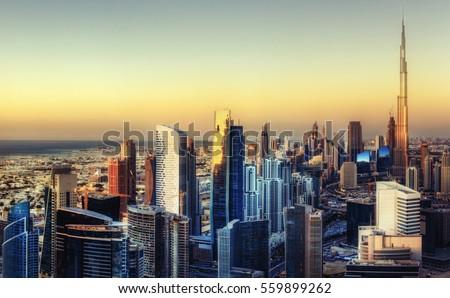 beautiful panoramic skyline of...
