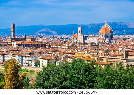 Beautiful panoramic view of Florence, Italy