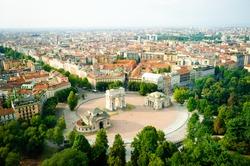 beautiful panoramic view of Milan