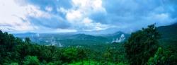 Beautiful panoramic view of wayanad hills,Kerala.