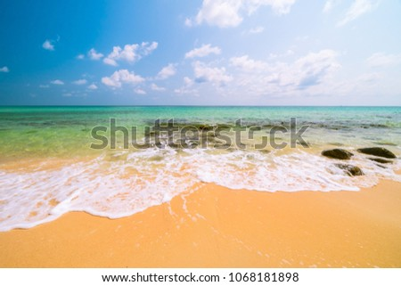 Beautiful paradise tropical beach and sea - Holiday vacation concept #1068181898