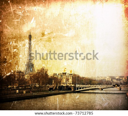 beautiful Parisian streets - The Eiffel Tower