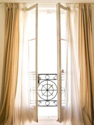 Beautiful Parisian window with a balcony