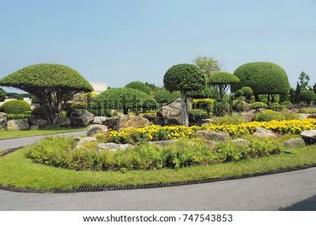 Beautiful park  #747543853