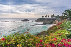 Beautiful park at Laguna Beach, California