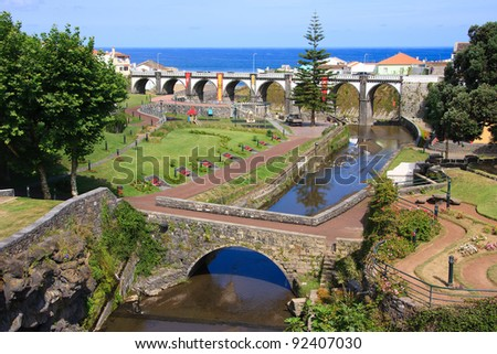 Beautiful park in Ribeira Grande, Sao Miguel, Azores. - stock photo
