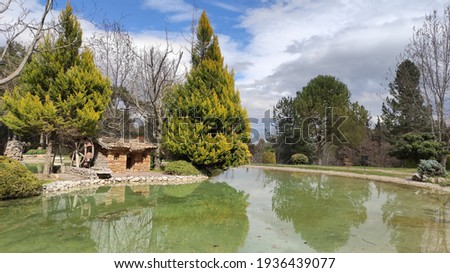 Beautiful park view in early spring Stok fotoğraf ©