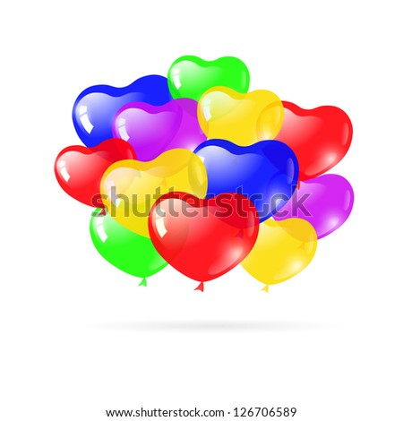 Beautiful party balloons. Raster version of the loaded vector.