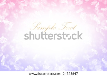 beautiful pastel background with flowers and space for text(easy to remove)