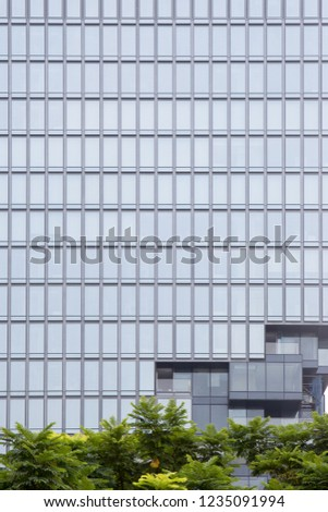 Beautiful pattern glass window exterior building and architecture of building #1235091994