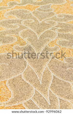 Beautiful pattern on the cement floor.