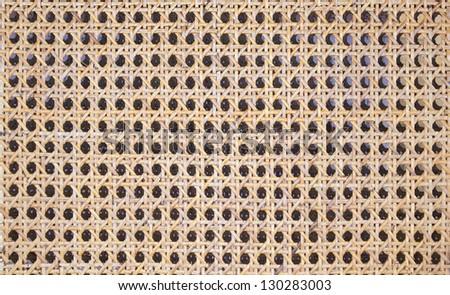beautiful pattern on the rattan