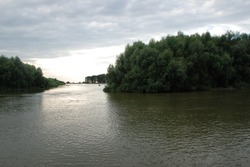 Beautiful paysage landscape in the Danube in Romania