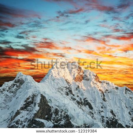 Beautiful peak Alpamayo